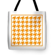 Rounded Houndstooth With Border In Tangerine Tote Bag