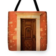 Roussillon Red And Door Tote Bag