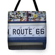 Route 66 Bench Tote Bag