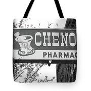Route 66 - Chenoa Pharmacy Bw Tote Bag