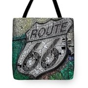 Route 66 Digital Stained Glass Tote Bag