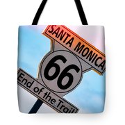 Route 66 End Of The Trail Tote Bag by Michael Hope