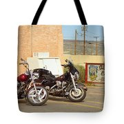 Route 66 - Grants New Mexico Motorcycles Tote Bag