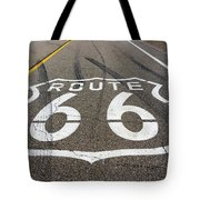 Route 66 Highway Sign Tote Bag