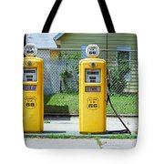 Route 66 - Illinois Gas Pumps Tote Bag