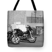 Route 66 Motorcycles Bw Tote Bag