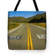 Route 66 National Historic Road Tote Bag