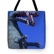 Route 66 Roadside Dinosaur Tote Bag