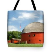 Route 66 Round Barn Tote Bag