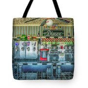 Route 66 Valentine Diner Tote Bag