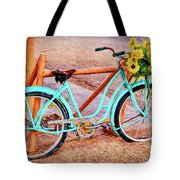 Route 66 Vintage Bicycle Tote Bag