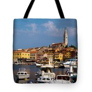 Rovinj Harbour Tote Bag