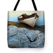 Row Boat On Shore Tote Bag