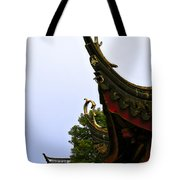 Row Of Chinese Rooftops Tote Bag