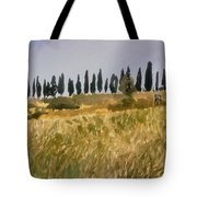 Row Of Cypress Trees, Tuscany Tote Bag