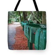 Row Of Green Mailboxes7426 Tote Bag