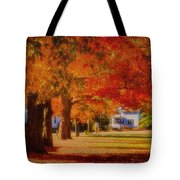 Row Of Maples Tote Bag