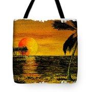 Row Of Palm Trees Tote Bag