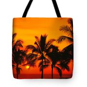 Row Of Palms Tote Bag