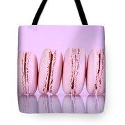 Row Of Pink Macaron Cookies Tote Bag