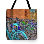 Row Of Student Bikes At Princeton University Nj Tote Bag