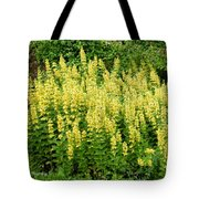 Row Of Yellow Flowers Tote Bag