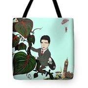 Rowan Atkinson Mr Beanstalk Tote Bag