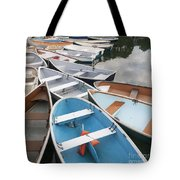 Rowboats In Quissett Harbor Tote Bag