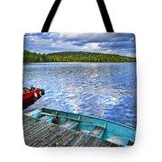 Rowboats On Lake At Dusk Tote Bag by Elena Elisseeva