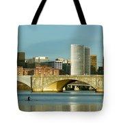 Rower On The Potomac River I Tote Bag