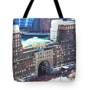Rowes Wharf Building Tote Bag