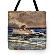 Rowing At Prouts Neck Tote Bag