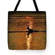 Rowing At Sunset 3 Tote Bag