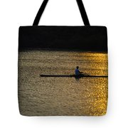 Rowing At Sunset Tote Bag