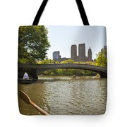 Rowing In Central Park Tote Bag