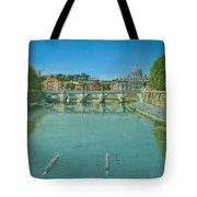 Rowing On The Tiber Rome Tote Bag
