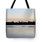 Rowing Under A Pastel Sky Tote Bag