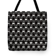 Rows And Rows Of Anonymous Faceless People With One Smiling Tote Bag