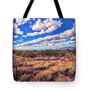 Rows Of Clouds Over Sonoran Desert Tote Bag