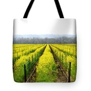 Rows Of Wild Mustard Tote Bag