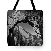 Royal Arch Trail Arch Boulder Colorado Black And White Tote Bag