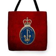 Royal Australian Navy -  R A N  Badge Over Red Velvet Tote Bag