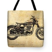 Royal Enfield Classic Chrome 2016, Poster For Men Cave Tote Bag