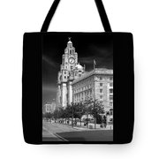 Royal Liver Buildings_beatle Country Tote Bag