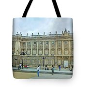 Royal Palace In Madrid In A Beautiful Summer Day, Spain Tote Bag