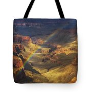 Royal Rainbow Tote Bag by Peter Coskun