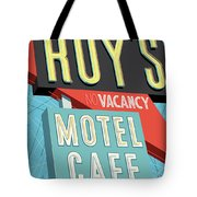 Roy's Motel Cafe Pop Art Tote Bag by Jim Zahniser