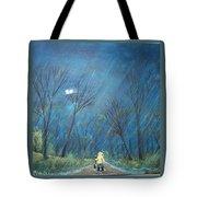Roy's Rainy Run Tote Bag