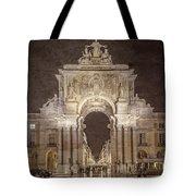 Rua Agusta Arch Lisbon Textured Tote Bag