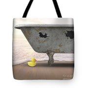 Rubber Ducky Bathtub Beach Surreal Tote Bag